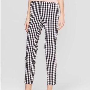 Target Gingham High Rise Ankle Pants (A New Day)